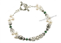 mother's bracelets | akiko in emerald