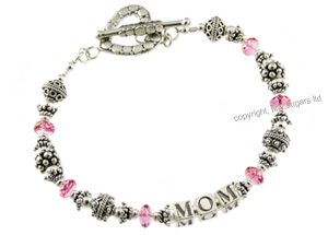 mothers bracelets | blush in pink topaz 32