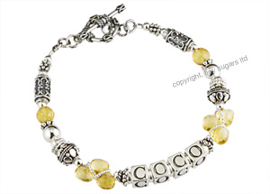 coco mothers bracelet in natural citrine