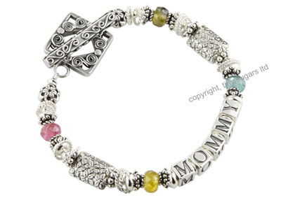 cookie mothers bracelet in tourmaline