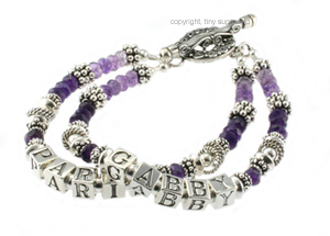 mother's bracelets | gabby amethyst