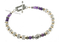 mother's bracelets | golden in amethyst f2