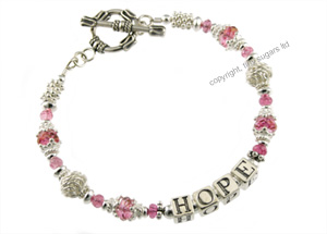 mothers bracelets | hope in pink topaz tourmaline