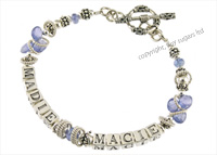 mothers bracelets | macie in tanzanite