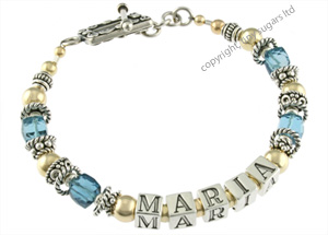 mothers bracelets | maria in london blue topaz f3
