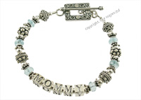 mothers bracelets | mommy in aquamarine f2