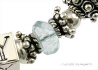 mothers bracelets | mommy aquamarine x2