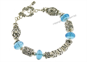 mothers bracelets | mum in blue topaz f3