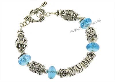 mothers bracelets | mum in blue topaz f4