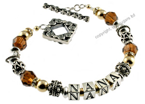 mother's bracelets | smokey topaz f3