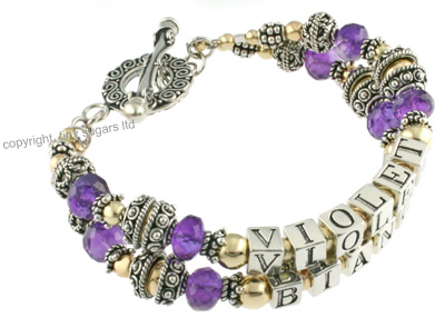 mother's bracelets | violet in amethyst f4