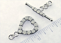 personalized jewelry - heart toggle