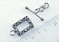 personalized jewelry - rectangle toggle
