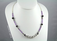 mother's necklaces | issac in amethyst