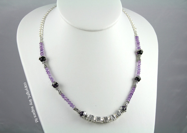 mothers necklaces | issac in amethyst